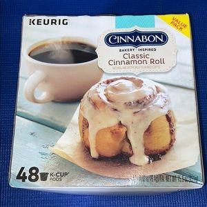48 Keurig Cinnabon Cinnamon Roll Coffee K-Cups NEW